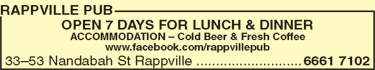 Rappville Pub - Goulburn Accommodation